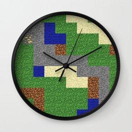 Pixel Craft Pattern Wall Clock