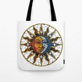 Celestial Mosaic Sun and Moon COASTER Tote Bag