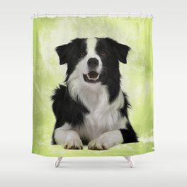 Border Collie Shower Curtain