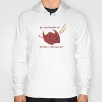 smaug Hoodies featuring Baby Smaug - Stop touching me ! by Kinsei