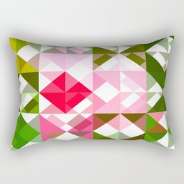 Pink Roses in Anzures 4 Abstract Triangles 1 Rectangular Pillow