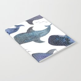Whale Shark Pattern Party Notebook