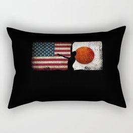 Artistic Swimming USA Flag Tokyo 2021 Japan Flag Rectangular Pillow