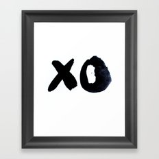 XO Framed Art Print