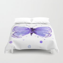 Butterfly Painting Purple Violet Abstract Butterfly Duvet Cover
