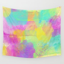 Rainbowcolors Watercolor Wall Tapestry