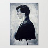 sherlock Canvas Prints featuring Sherlock by LindaMarieAnson