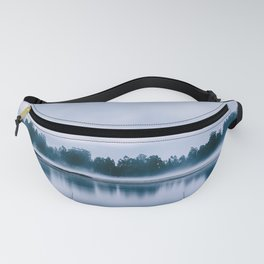 Peaceful blue morning in the crystal clear waters of the river Fanny Pack