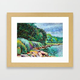 Hudson River Scene Framed Art Print