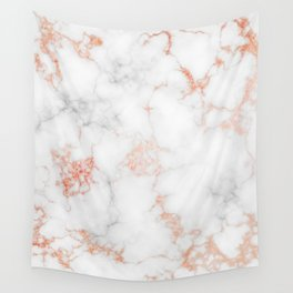 Rose Gold Marble Wall Tapestry