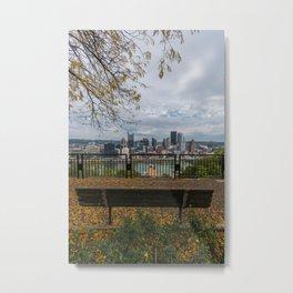 Overlooking Pittsburgh Metal Print