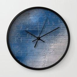 Silver music Wall Clock