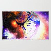 iris Area & Throw Rugs featuring Iris  by haroulita