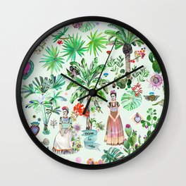 Frida's Garden Wall Clock