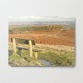 Overlooking Bradgate Park and Leicestershire Metal Print