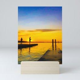 Sunset Fishermen Mini Art Print
