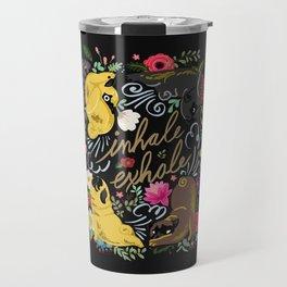 Inhale Exhale Pug Yoga Travel Mug