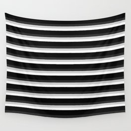 Stripes Black Gray & White Ombre Wall Tapestry