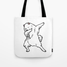 Funny Dabbing Samoyed Dog Dab Dance Tote Bag