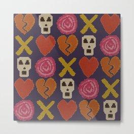 cross stitch cross love Metal Print