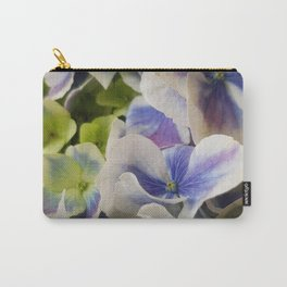 Hydrangea in Blue 3 - Close Up Like Butterflies Carry-All Pouch