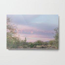 pink skies in Arizona Metal Print