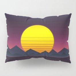 Vaporwave\\Mountain Pillow Sham