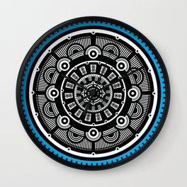 Modern Mandala (Blue) Wall Clock