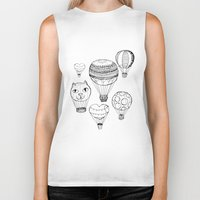 hot air balloons Biker Tanks featuring dreaming of hot air balloons by Oh, Hopscotch!