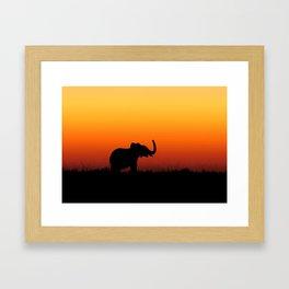 Tropical Elephant Framed Art Print