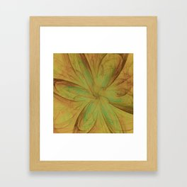 Fall Blossom Fractal Framed Art Print
