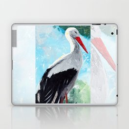 Animal - The beautiful stork - by LiliFlore Laptop & iPad Skin