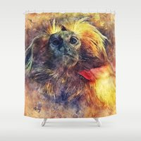 monkey Shower Curtains featuring Monkey by jbjart