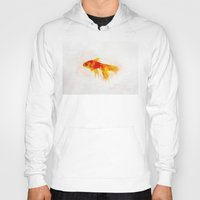 goldfish Hoodies featuring Goldfish by emegi