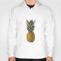 pineapple Hoodies featuring Pineapple by Marta Li