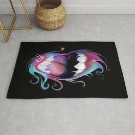 Open Mouth-Psychedelic Colorful open mouth Rug