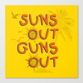 Guns Out Canvas Print