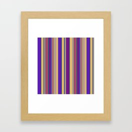 awning stripe Framed Art Print