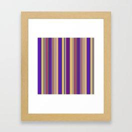 awning stripe Framed Art Print