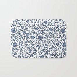 Delft Blue Botanical Florals Bath Mat