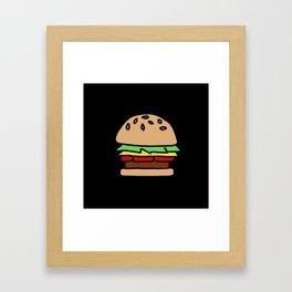 Burger Off Framed Art Print