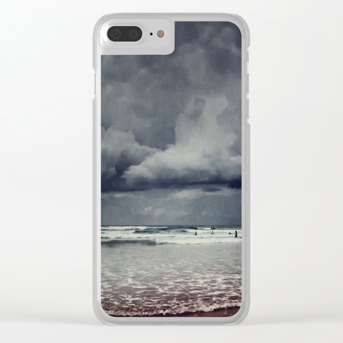 elemental - surf and clouds Clear iPhone Case