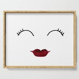 Merlot Lips Serving Tray