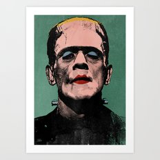 The Fabulous Frankenstein's Monster Art Print