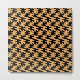 ornamental pattern wolf indomitable Metal Print
