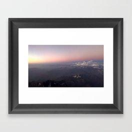 Over the Andes Framed Art Print