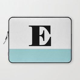 Monogram Letter E-Pantone-Limpet Shell Laptop Sleeve