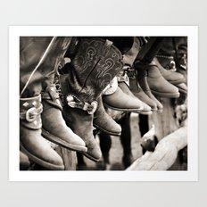 Cowboy Spectators Art Print