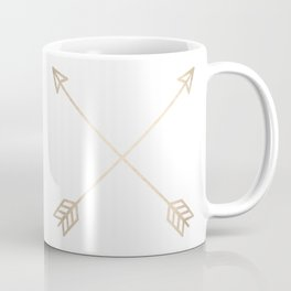 Adventure White Gold Arrows Coffee Mug