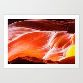 Sandstone abstract textures at Antelope Canyon Art Print